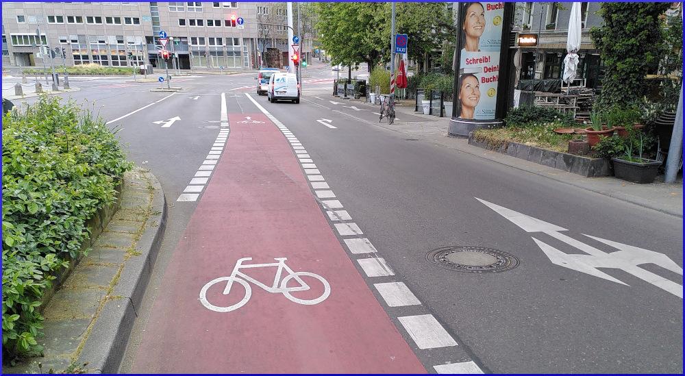 Fahrradweiche am Wilhelmsplatz