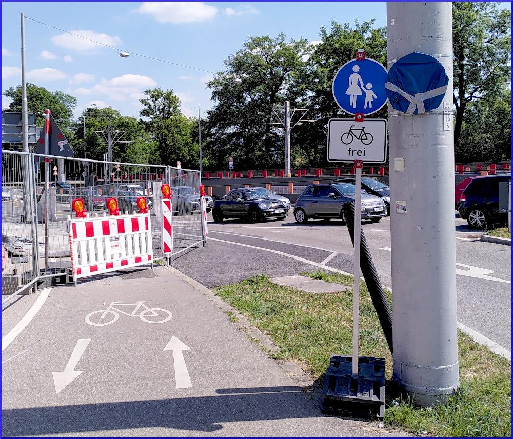 Korrektur an der Pragstraße