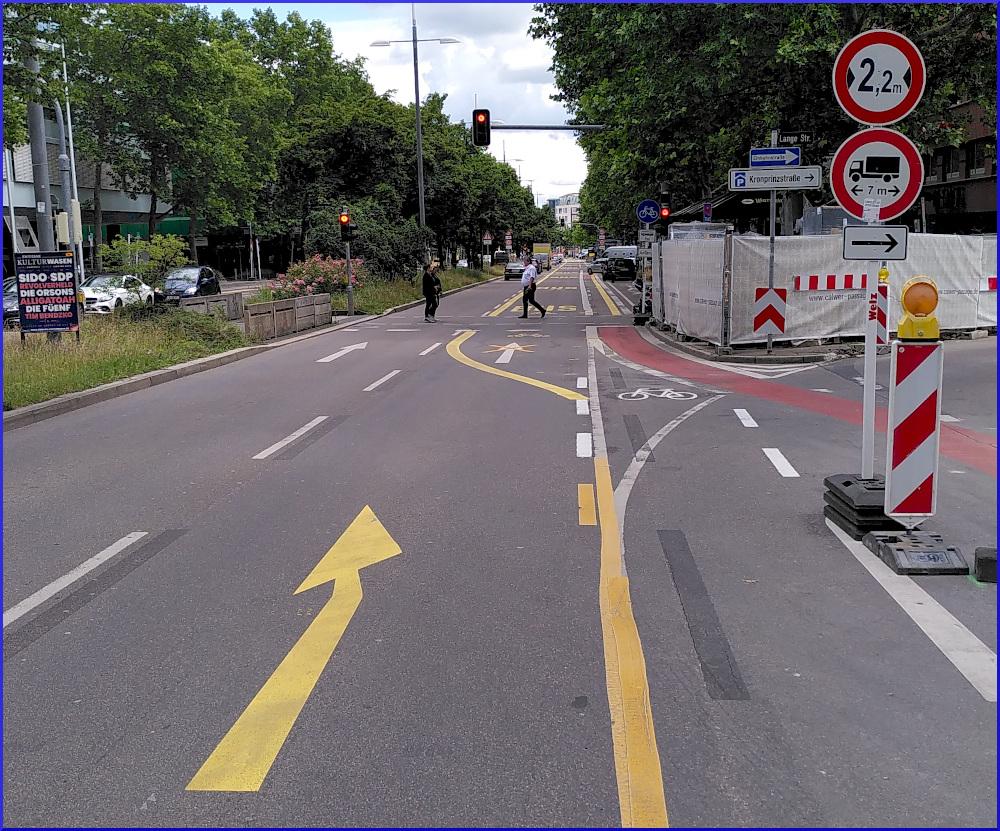 """""""Schutz"""" der Radfahrer:innen durch die Stadt"""