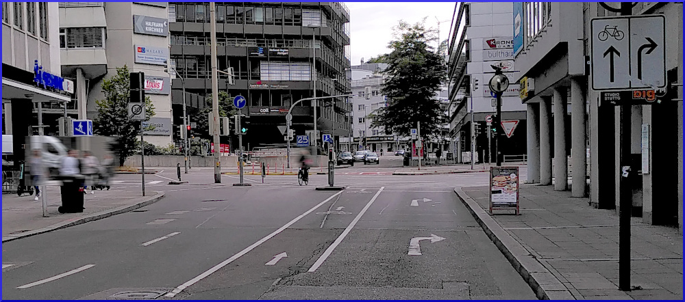 Rad-Infrastruktur in der Kronenstraße