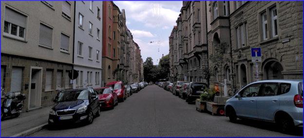 Blick in die Elisabethenstraße