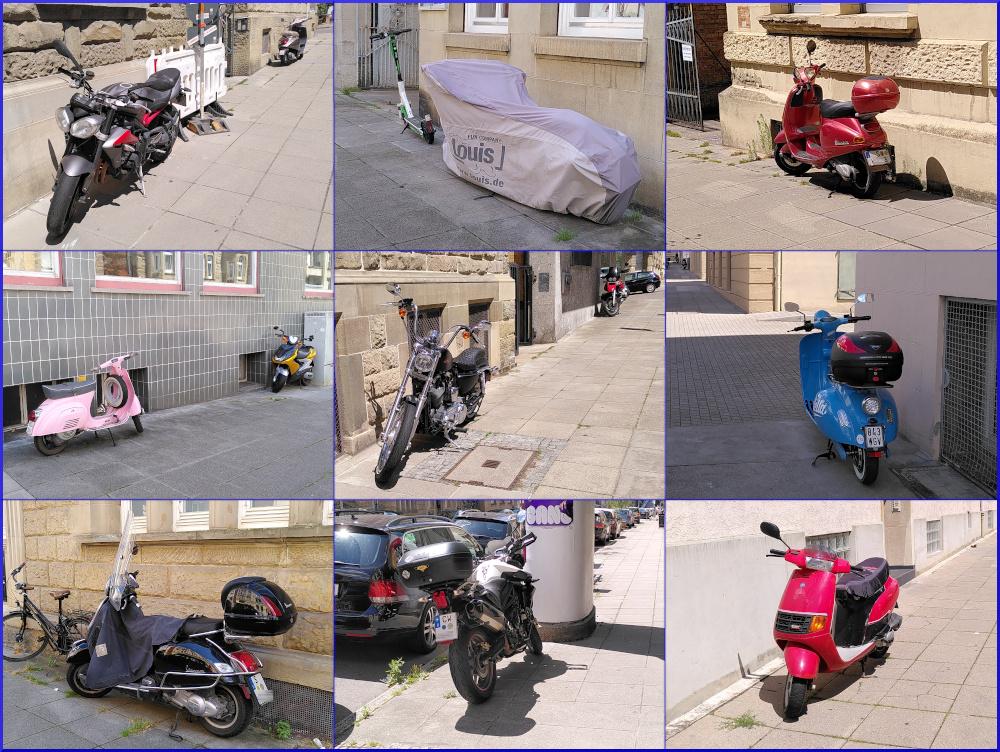 Motorräder dürfen überall parken