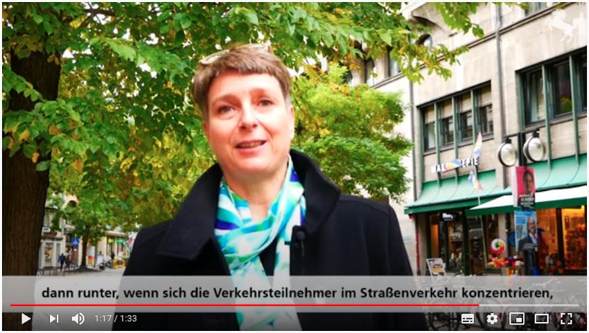 Frau Scherz über die Fahrrad-Unfalllage in Stuttgart